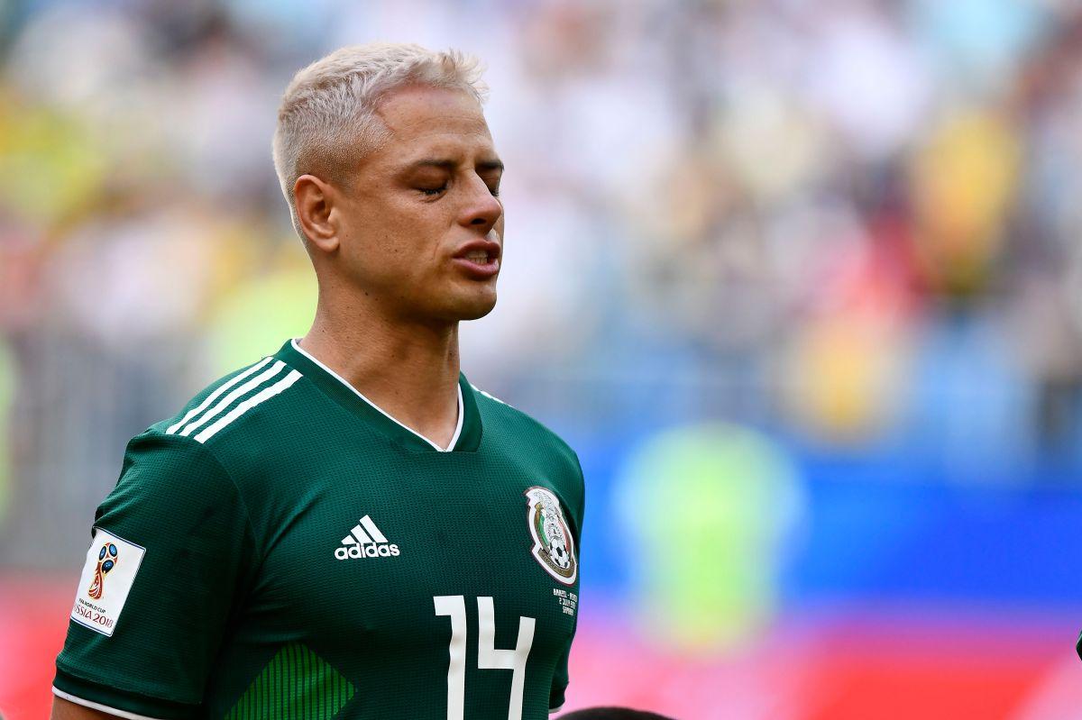 """En el Mundial de Rusia 2018, """"Chicharito"""" Hernández se tiñó el cabello"""