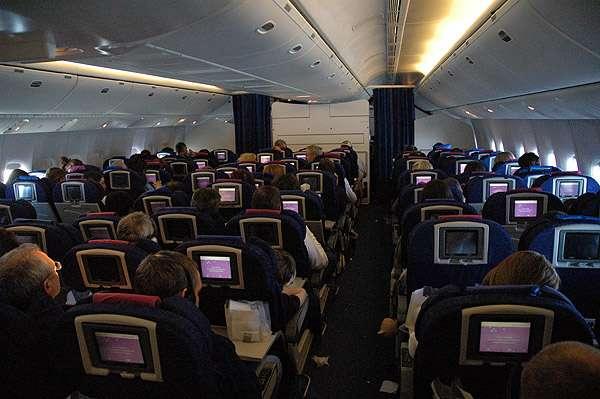 Interior de una aeronave de British Airways.