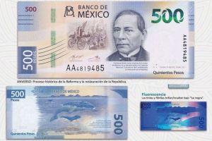 México tiene nuevo billete de $500 pesos
