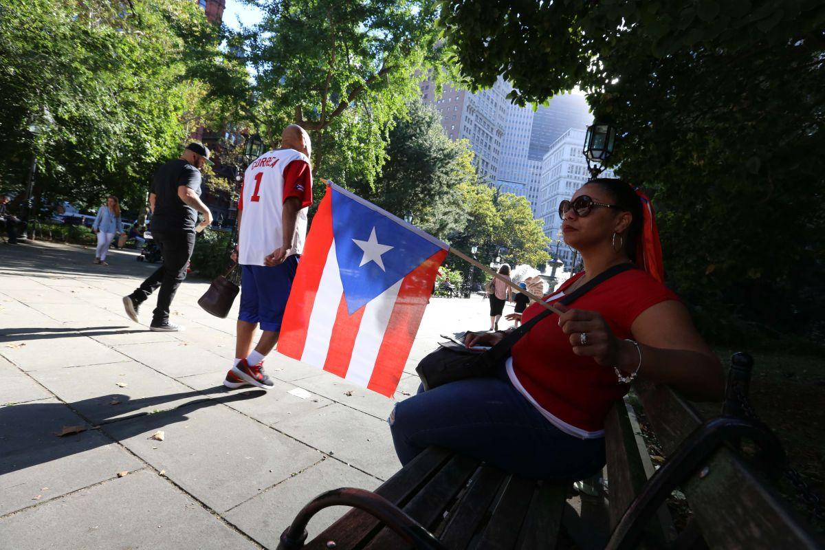 Protesta sobre la ayuda a Puerto Rico tras el Huracan Maria en el parque de City Hall en septiembre pasado.