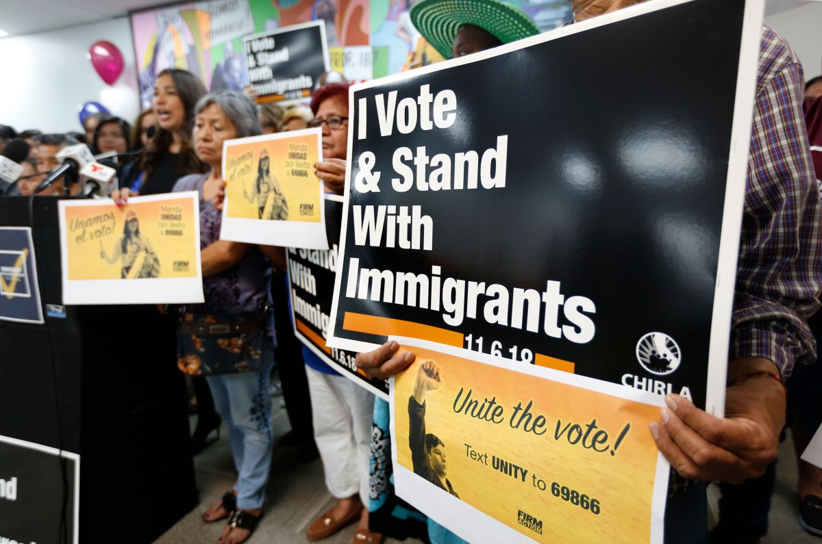 09/18/18 / LOS ANGELES/ The CHIRLA Action Fund kicks off, during a press conference, a state wide electoral campaign, to mobilize the immigrant vote in mid-term election of November 6. (Aurelia Ventura/La Opinion)