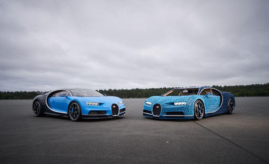 El Bugatti Chiron de LEGO sigue recorriendo el mundo