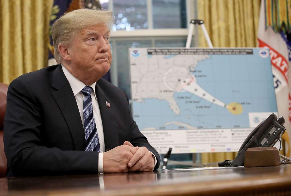 """Trump ofrece ayuda """"al 100%"""" en áreas inundadas por """"Florence"""""""