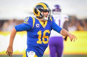 Jared Goff tiene el partido de su vida y los Rams van viento en popa