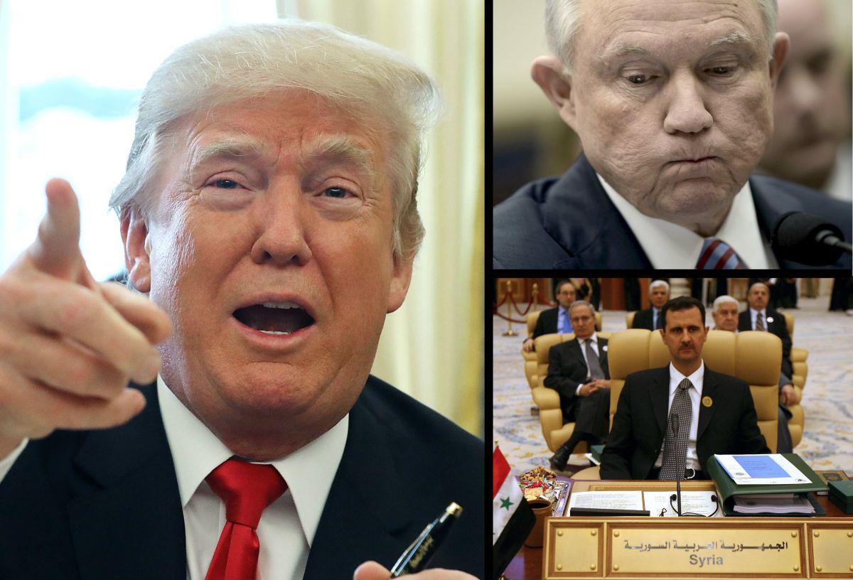 """Trump llamó """"retrasado mental"""" a Sessions y quiso asesinar a Al Asad, según nuevo libro"""