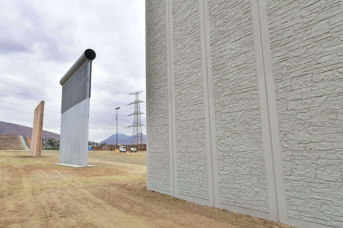 Los prototipos del muro fueron construidos en San Diego.