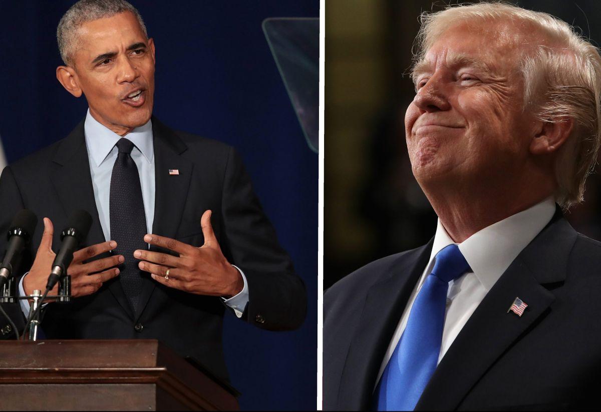 """Trump responde al fuerte discurso de Obama: """"Me quedé dormido"""""""