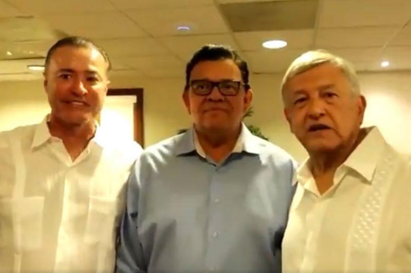 López Obrador se encuentra con Fernando Valenzuela y da la bienvenida a Maradona