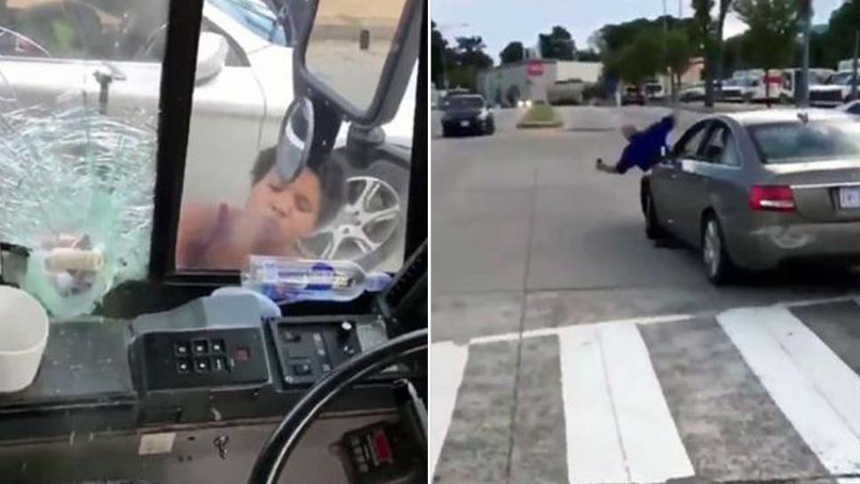 Vídeo: Mujer ataca a un conductor de autobús