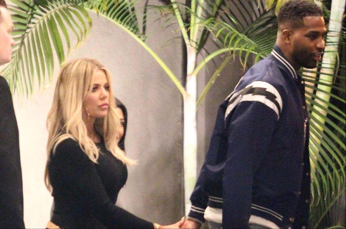 Khloé Kardashian junto a Tristan Thompson.