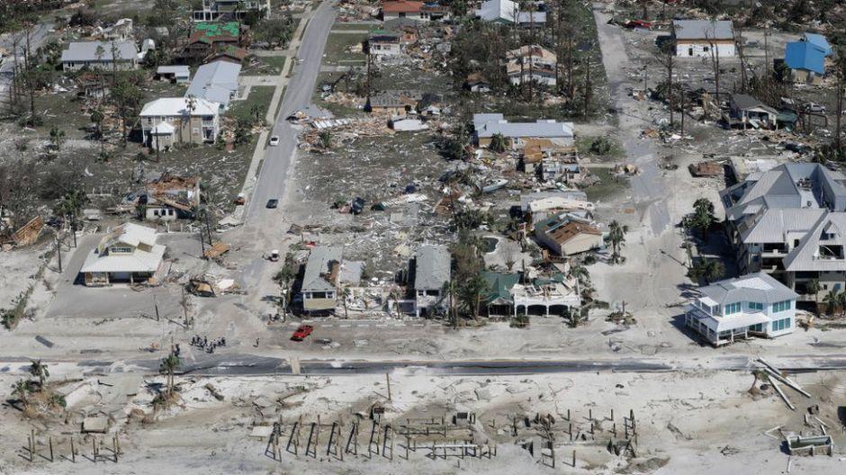 Huracán Michael: las impactantes imágenes aéreas de la devastación de Mexico Beach