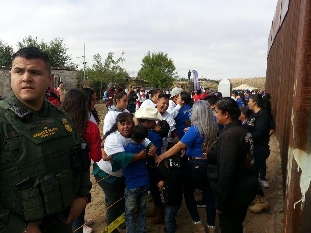 Cerca de 250 familias, separadas por motivos migratorios, pudieron abrazarse.