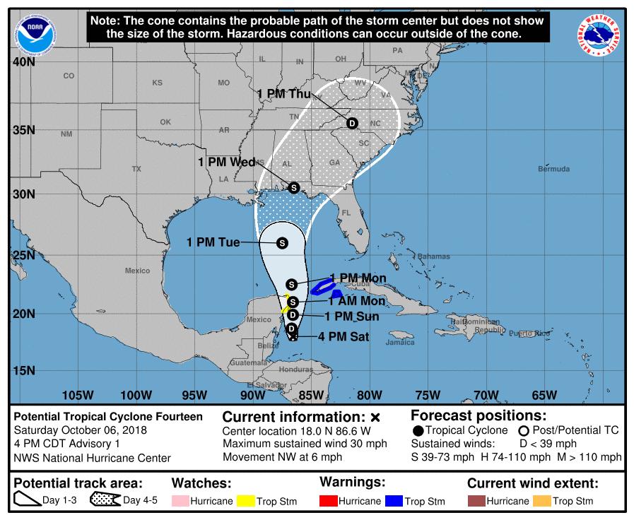 La tormenta Kirk frente a Belice puede convertirse en ciclón