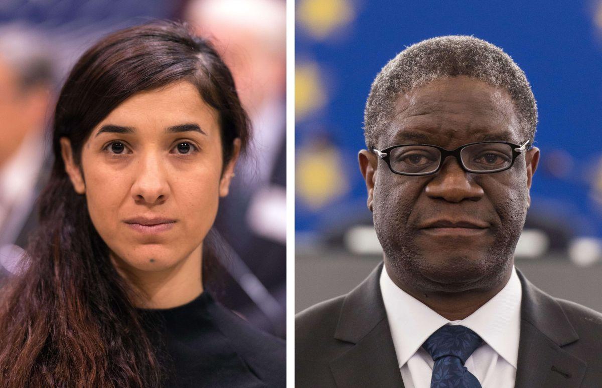 La activista iraquí por los derechos humanos Yazidi Kurdish y el médico congoleño Denis Mukwege