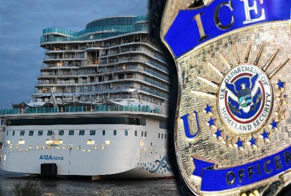 El hombre mostraba una placa falsa de ICE y decía ser agente federal