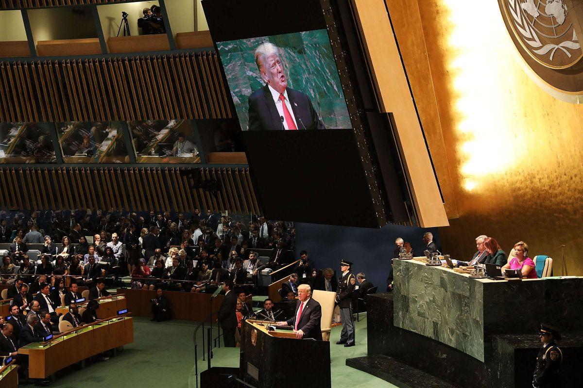 El presidente Trump acudió la semana pasada a la Asamblea General de la ONU.