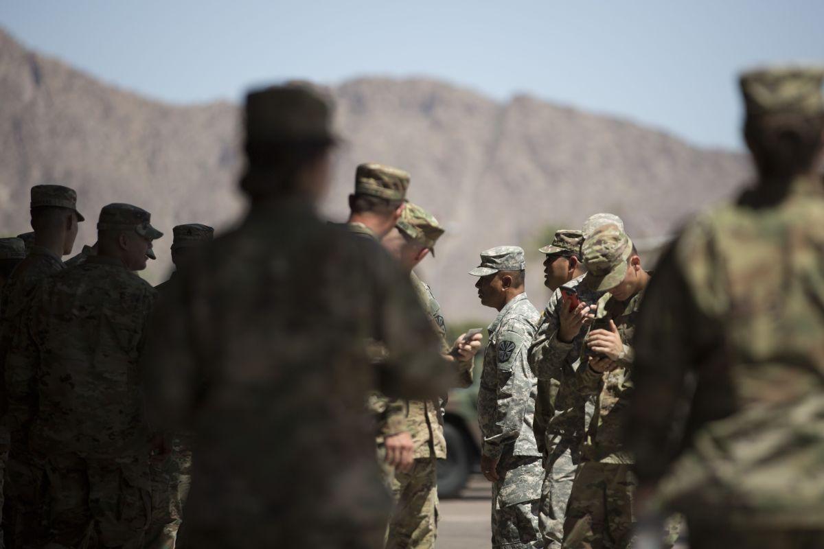Siguen llegando tropas del ejército a la frontera sur