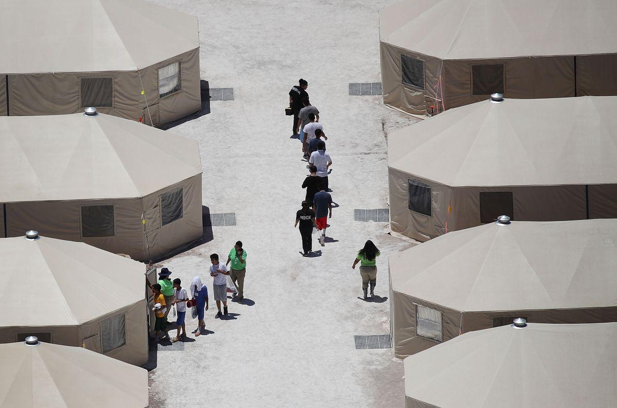 Un centro de detención de niños inmigrantes en texas.