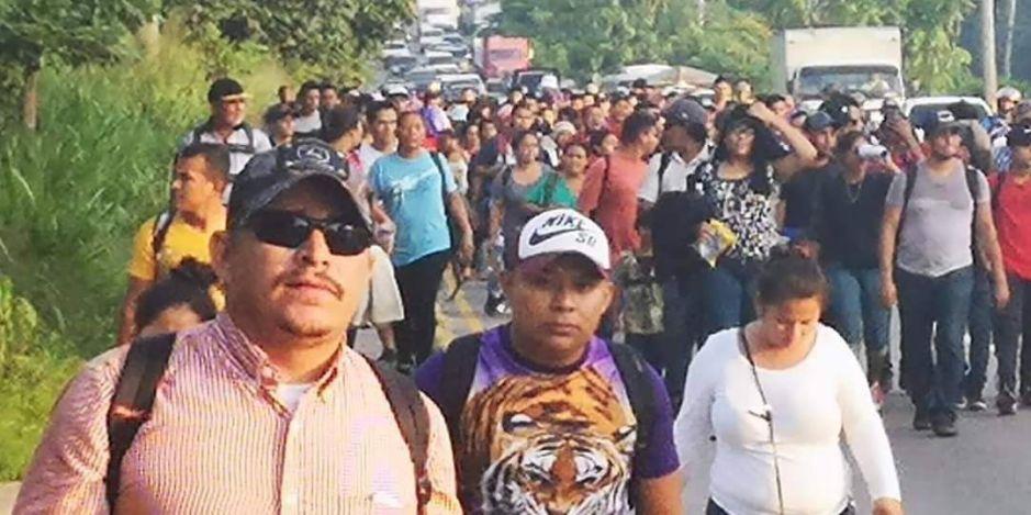 3,000 migrantes avanzan al grito de asilo en México
