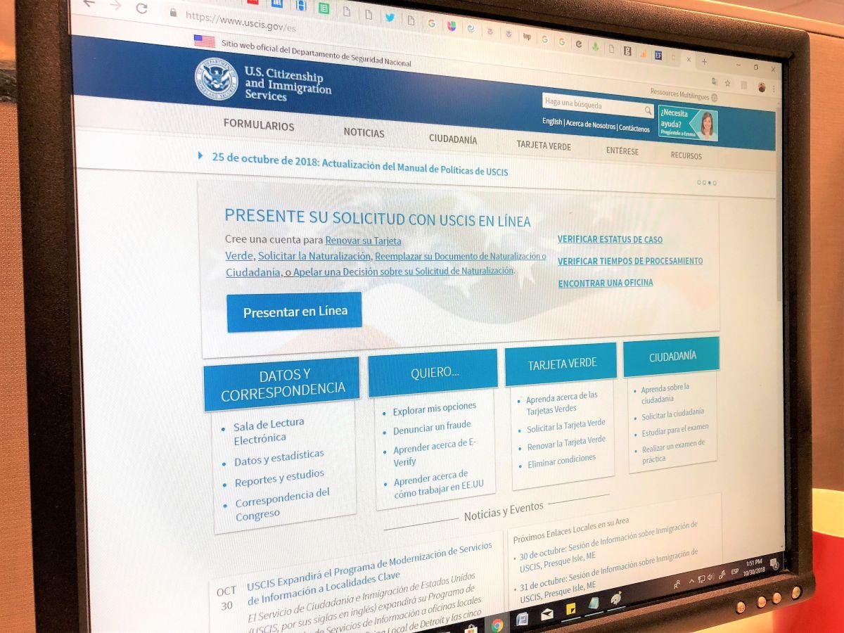 USCIS busca que los inmigrantes apliquen por cualquier beneficio desde la página web.