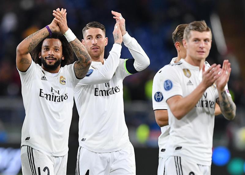 Real Madrid derrotó 2-0 al AS Roma