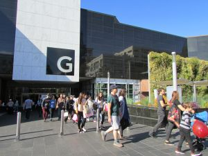 Miles de compradores abarrotaron las tiendas de Glendale Galleria el Viernes Negro. (Araceli Martínez/La Opinión).