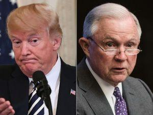 Donald Trump y Jeff Sessions se atacan mutuamente en Twitter