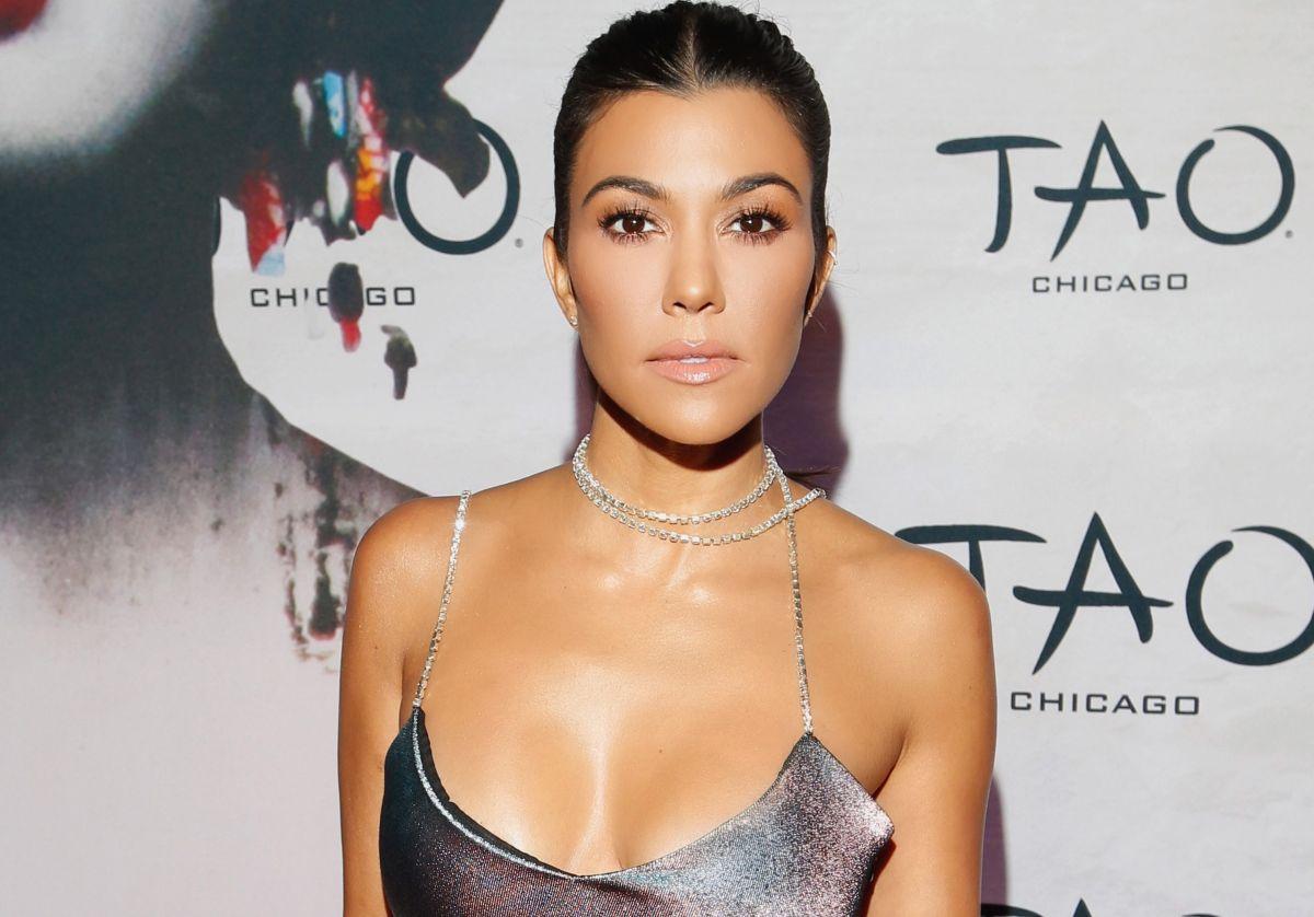 Kourtney Kardashian siempre sensual.