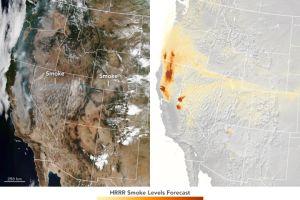 ¿Se puede pronosticar dónde irá el humo de los incendios?