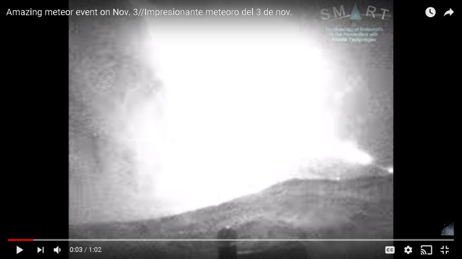 VIDEO: Un meteorito encendió la noche en el sur de España como si fuera de día