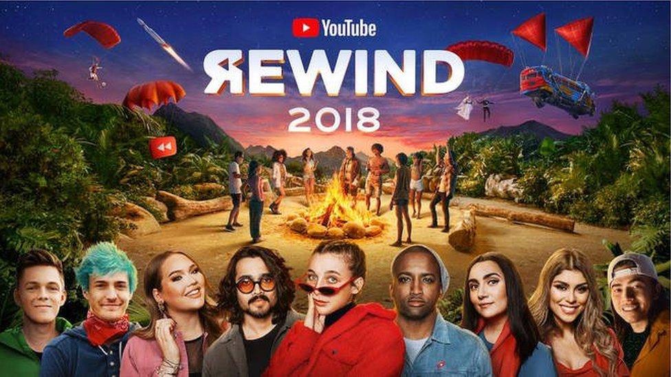 La imagen de portada muestra varios YouTubers populares.