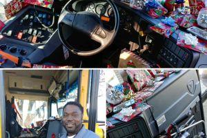 Conductor de autobús se convierte en el mejor Papá Noel al regalar a los niños todo lo que piden