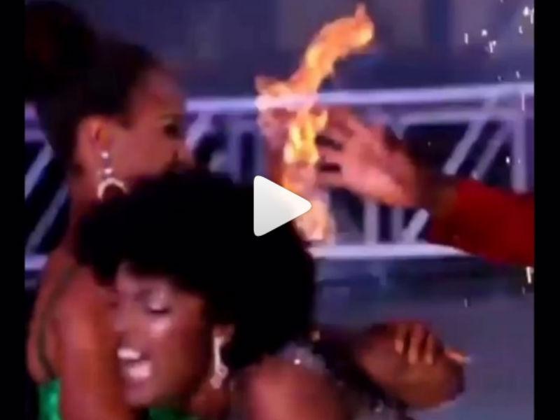 VIDEO: Se incendia el pelo de Miss África en pleno concurso de belleza