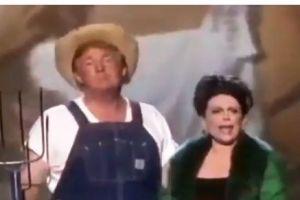 Trump se disfraza de granjero y canta para anunciar ley agrícola