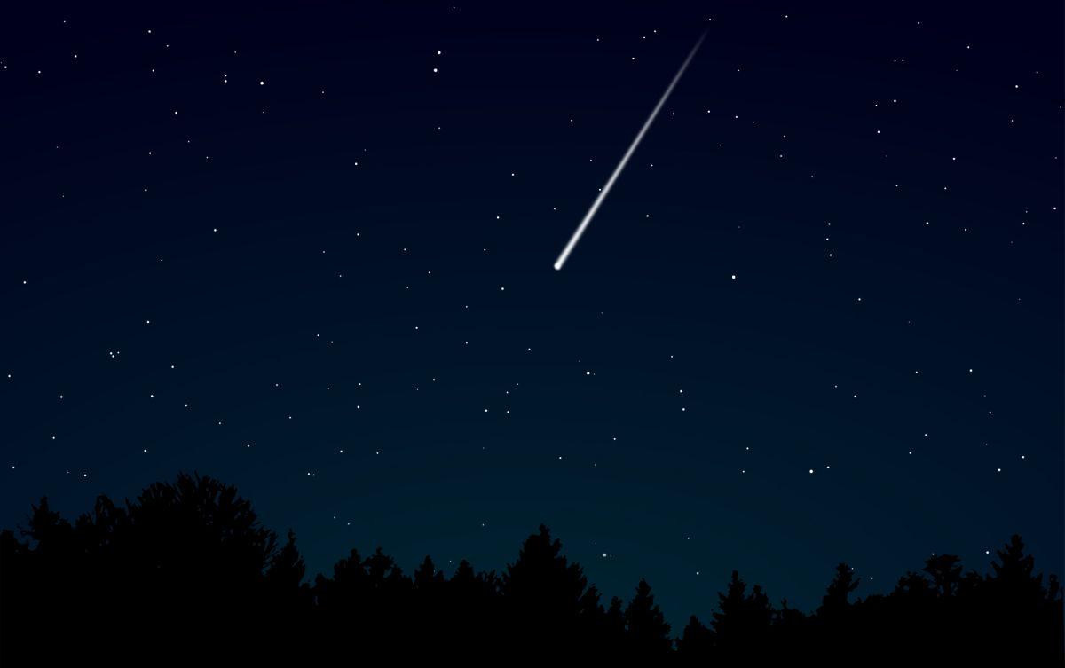 Los meteoros se ven como estrellas fugaces.