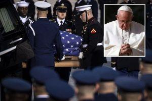 El Papa envía un telegrama de pésame por la muerte de George H. W. Bush