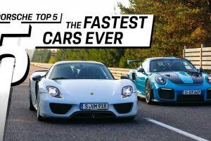 Porsche revela sus 5 autos más veloces en un video