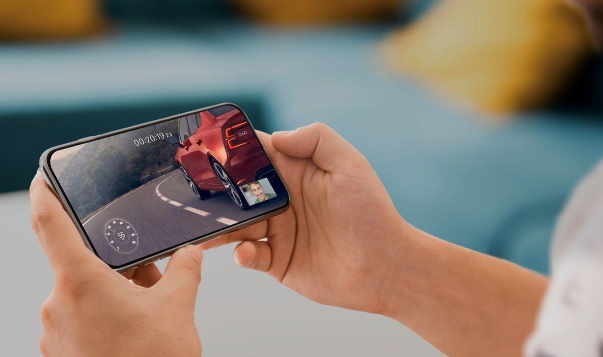 No podrás dejar de mirar el Volvo en tu celular