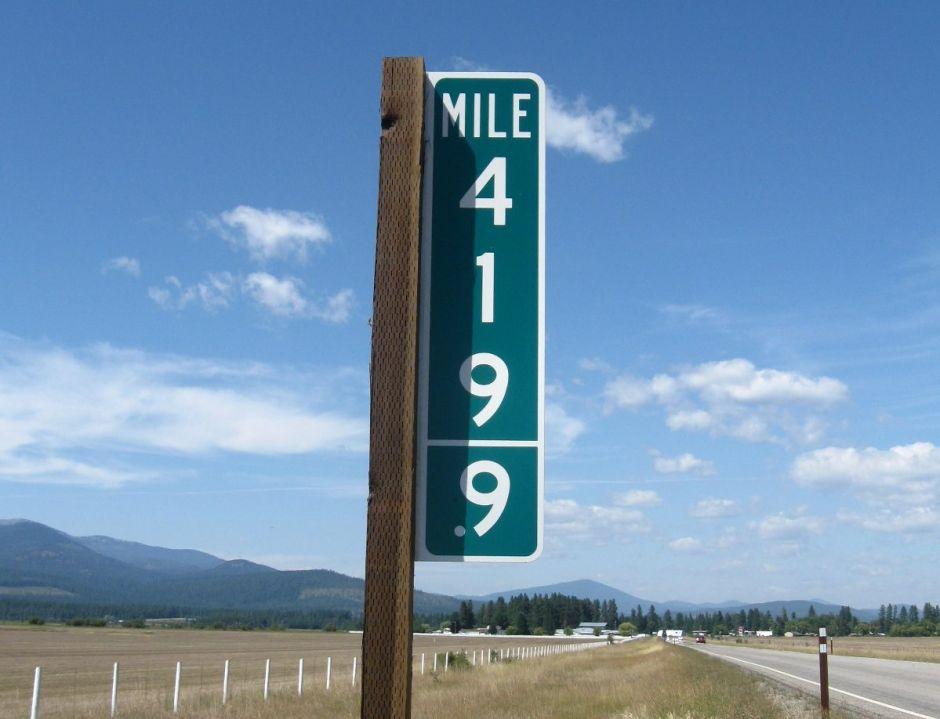 No dejan de robarse el marcador de la milla 69 en Washington