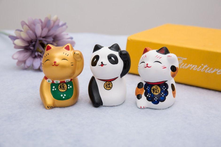 4 figuras del Gato de la Suerte para colocar en tu hogar y atraer cosas buenas