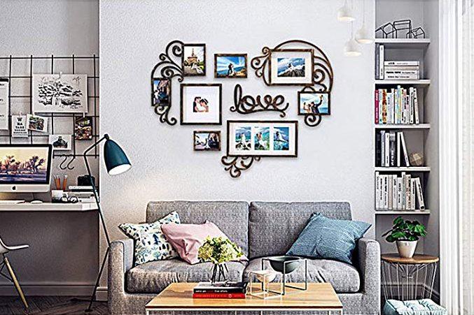 5 sets de portarretratos para decorar la sala de tu hogar como de revista
