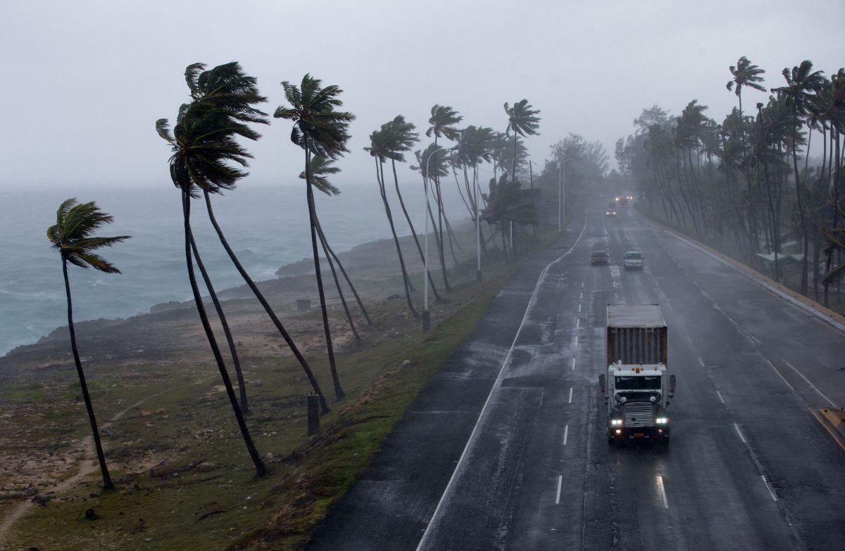 Una vista de Santo Domingo en temporada de huracanes.
