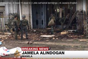 Ataque con bombas deja muertos y heridos en una catedral en Filipinas