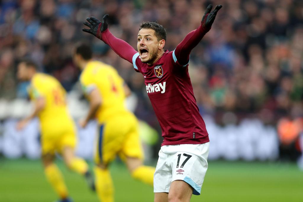 Chicharito juega en la derrota del West Ham con el Bournemouth