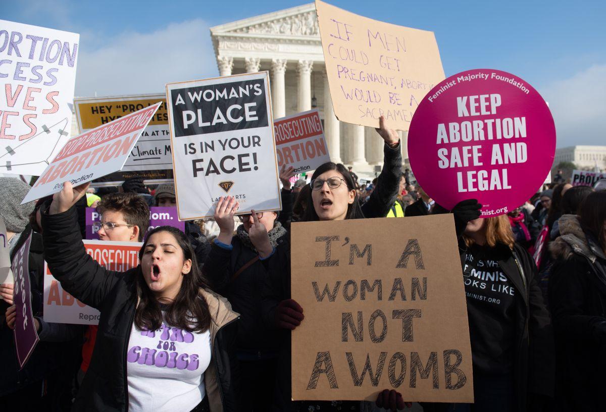 El aborto es legal en todo Estados Unidos desde 1973.