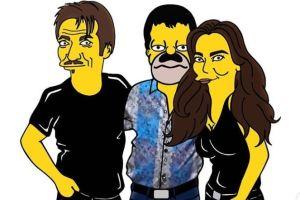"""""""El Chapo"""", Kate del Castillo y Sean Penn al estilo de Los Simpson"""