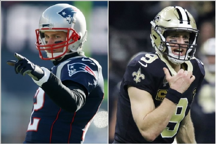 Tom Brady y Drew Brees buscan defender la supremacía de su generación rumbo al Super Bowl