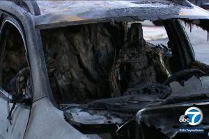 Incendian siete autos en hotel de Ontario