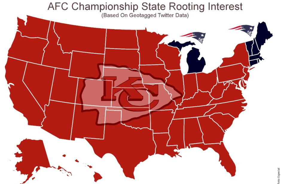 Casi todo Estados Unidos quiere a New England Patriots fuera del Super Bowl