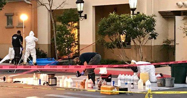 Los funcionarios del hotel ni siquiera se daban cuenta del laboratorio de drogas adentro. (@ABC7)